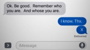 Dad rescues Son from Danger thanks to Code Text Message